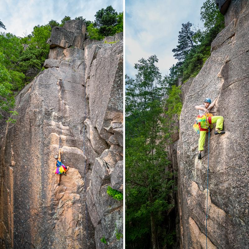 Acadia rock climbing wedding