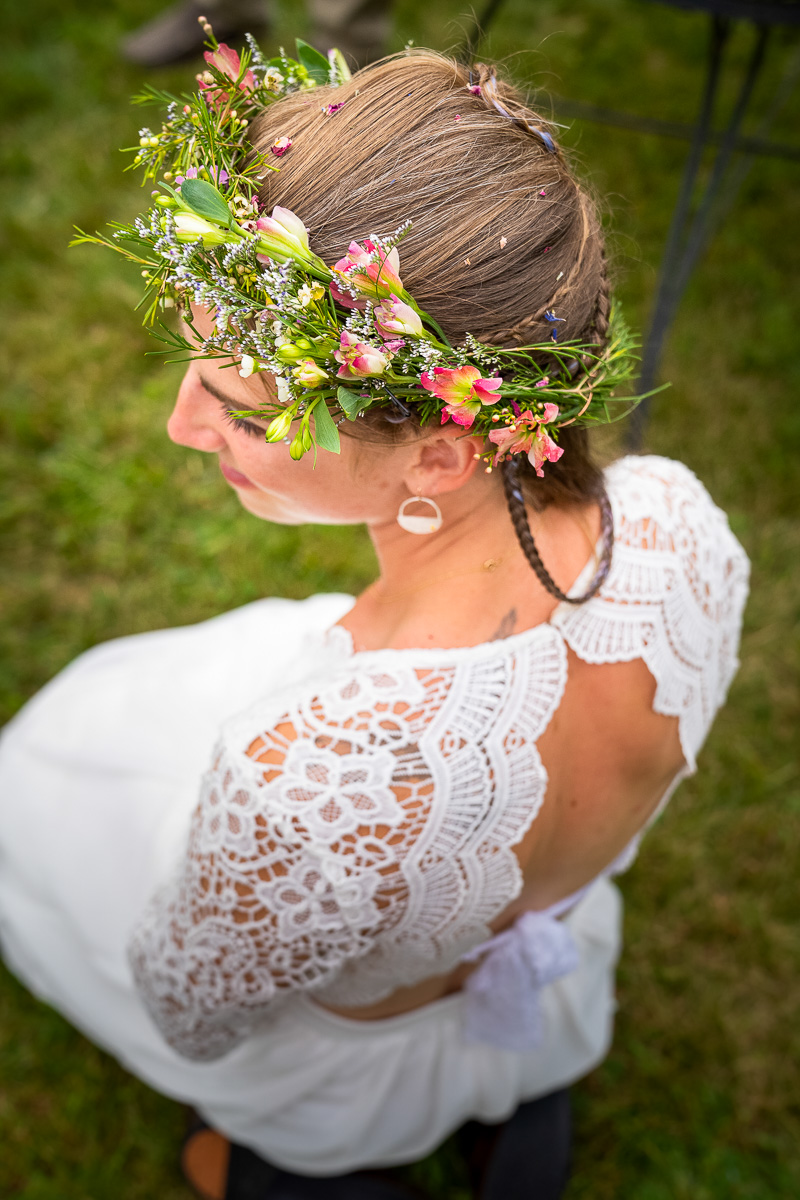Wildflower bridal crown
