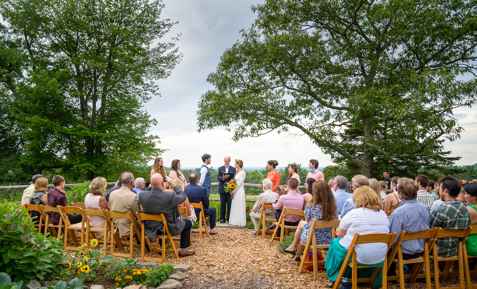 Outdoor ceremony location Acadia