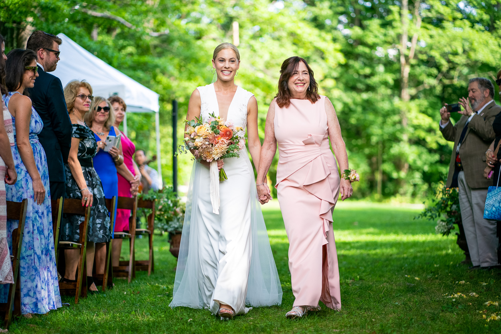 Outdoor ceremony bride Grafton Wedding