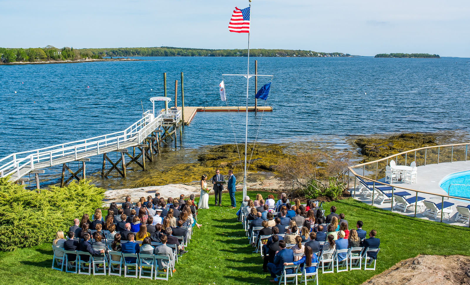 View ceremony location Linekin Bay Resort