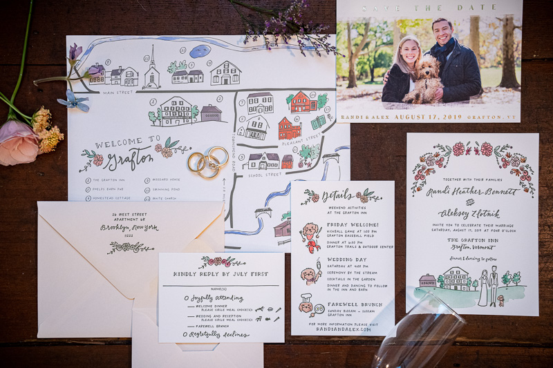 Invitations for Grafton Inn Wedding