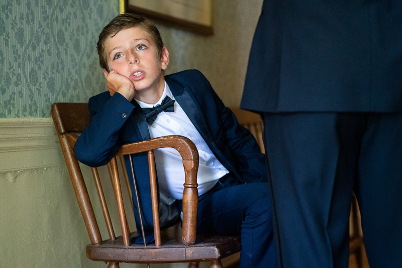 Bored child at wedding