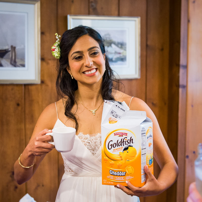 Bride goldfish snacks