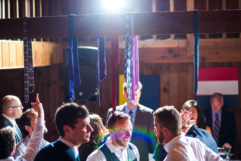 Ties hanging from rafter