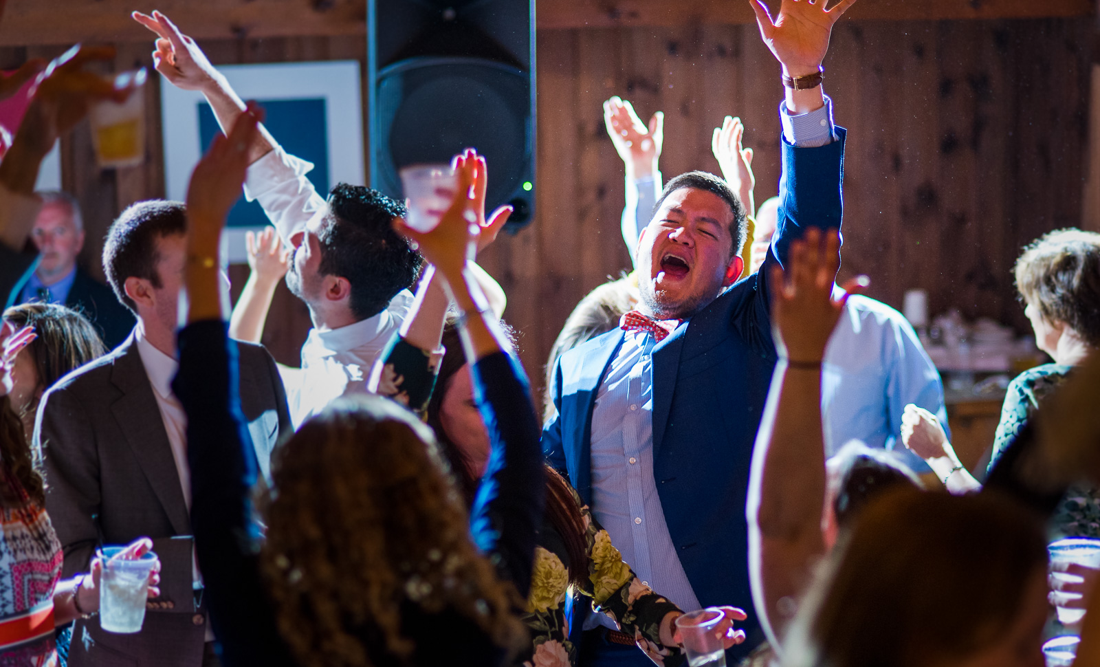 Dancing reception at Linekin Bay Resort