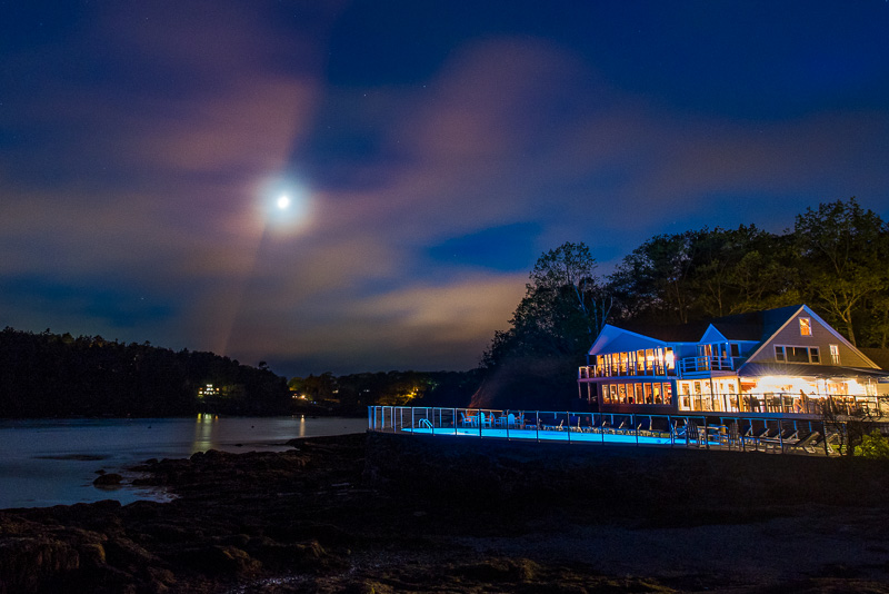 Linekin Bay Resort at Night