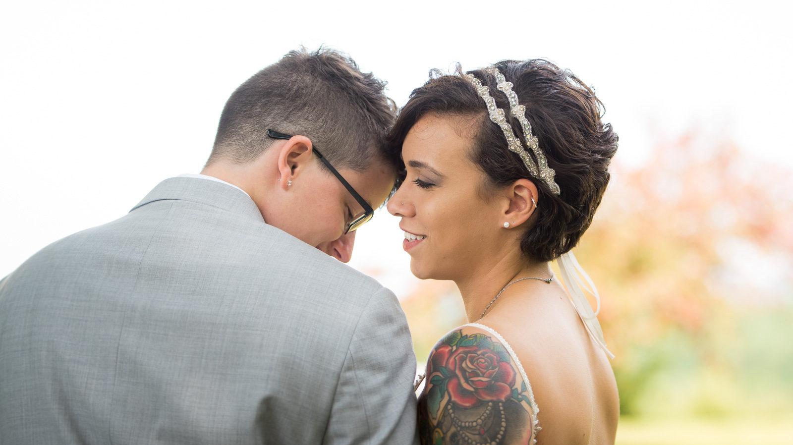 Candid same sex wedding photos