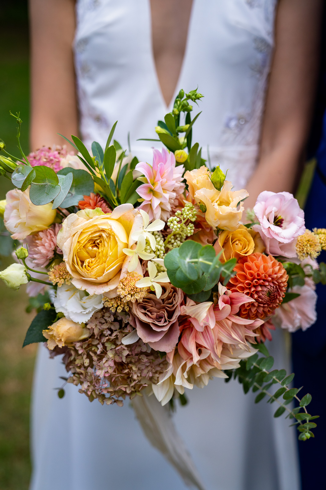 Brides colorful bouquet