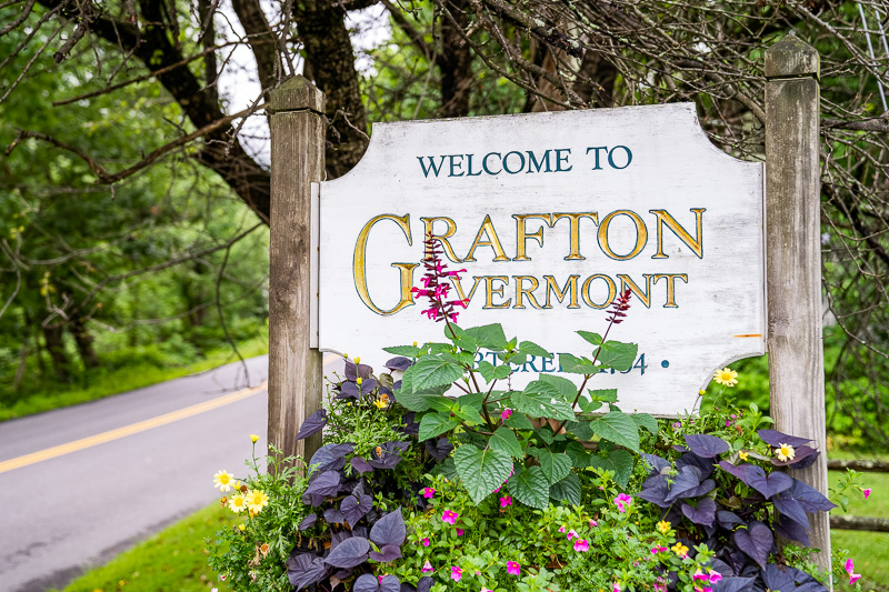 Welcome to Grafton Vermont sign
